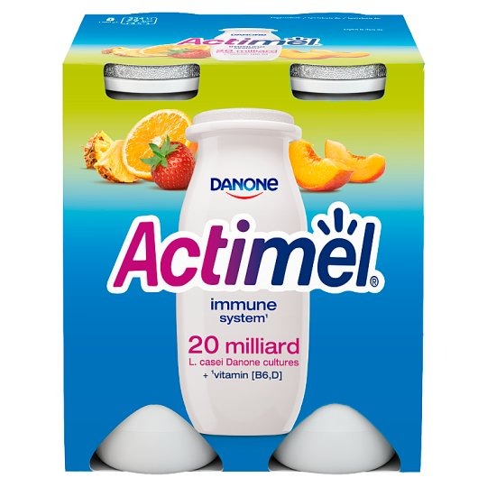 Danone Actimel Multifruit Fermented Milk 400 g (4 Pieces)