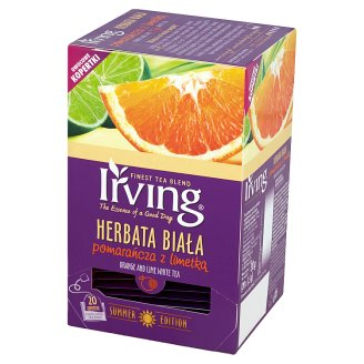 Irving Orange and Lime White Tea 30 g (20 Tea Bags)