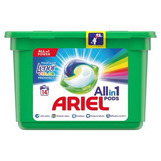 Ariel Touch Of Lenor Fresh 3 w 1 Kapsułki do prania, 14 prań