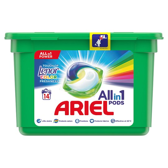 Ariel 3in1 Pods Touch Of Lenor Fresh Washing Capsules 14 Washes
