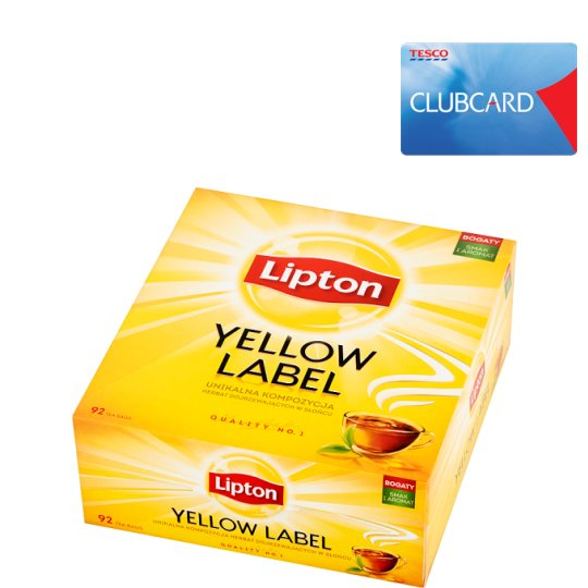 Lipton Yellow Label Black Tea 184 g (92 Tea Bags)