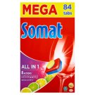 Somat All in 1 Lemon & Lime Tabletki do mycia naczyń w zmywarkach 1512 g (84 sztuki)