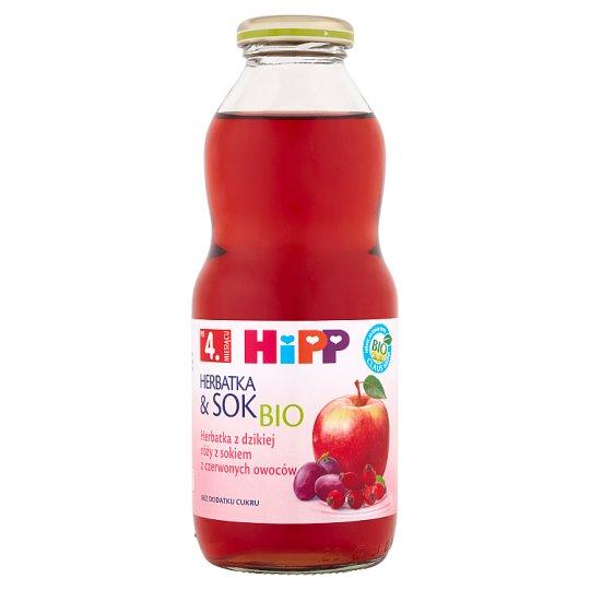 HiPP BIO Herbatka & Sok Bio z dzikiej róży z sokiem z czerwonych owoców po 4. miesiącu 0,5 l