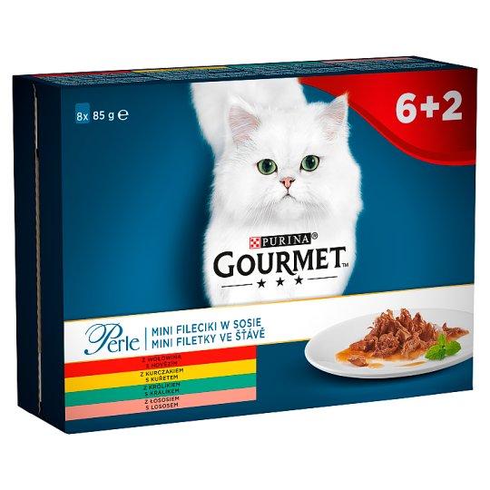 Gourmet Perle Karma dla kotów kolekcja mini filecików w sosie 680 g (8 x 85 g)
