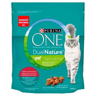 PURINA ONE Dual Nature Spirulina Food for Adult Cats with Beef 750 g
