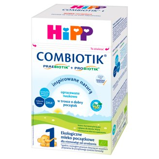 HiPP Combiotik 1 Organic Powdered Milk for Newborns from Birth 600 g
