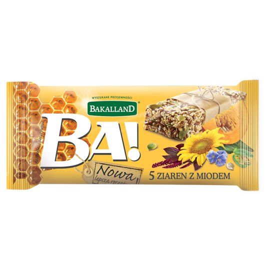 Bakalland Ba! 5 Grains with Honey Bar 40 g
