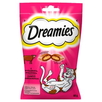 Dreamies Supplementary Food with Delicious Beef for Cats and Kittens 60 g