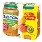 BoboVita Brzoskwinie jabłka banany i kiwi po 6 miesiącu 2 x 190 g