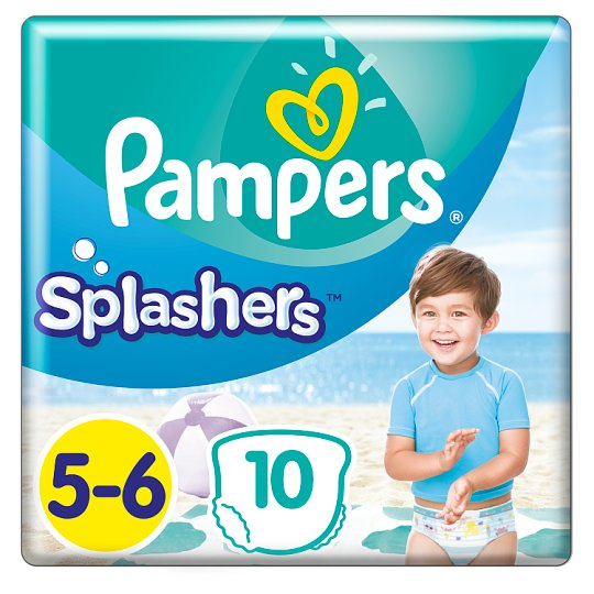 Pampers Splashers, R5-6, 10jednorazowych pieluch do pływania