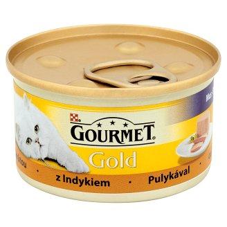 Gourmet Gold z indykiem Pełnoporcjowa karma dla dorosłych kotów 85 g