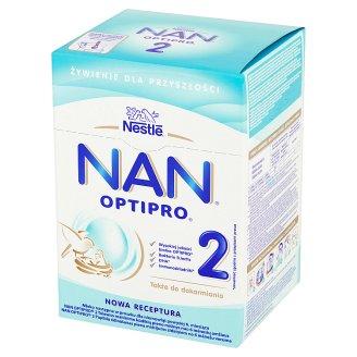 Nestlé Nan Optipro 2 Mleko następne w proszku dla niemowląt powyżej 6. miesiąca 800 g (2 sztuki)