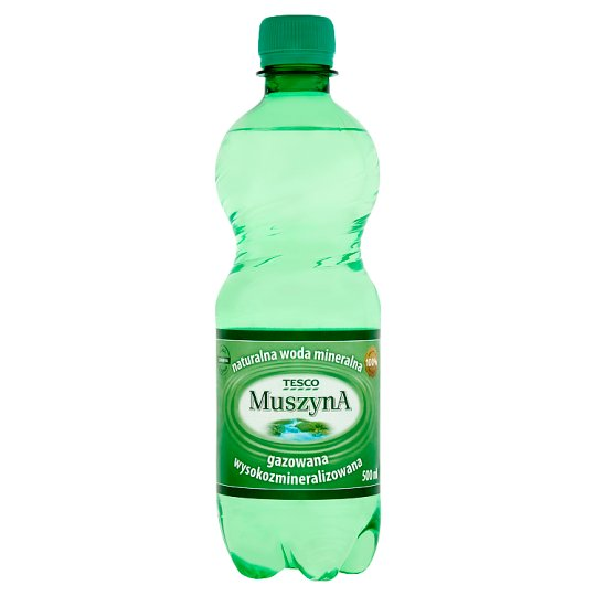Tesco Muszyna Sparkling Rich Mineral Natural Water 500 ml