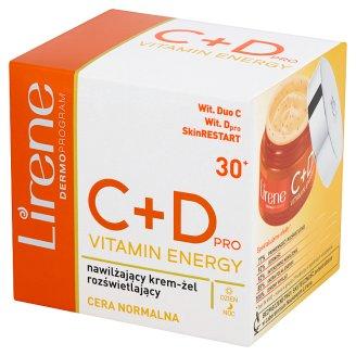 Lirene C+D pro Vitamin Energy 30+ Nawilżający krem-żel rozświetlający na dzień i na noc 50 ml