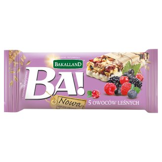 Bakalland Ba! Cereal Bar with 5 Forest Fruits 40 g