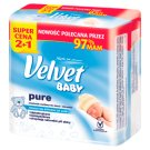 Velvet Baby Pure Wet Wipes for Babies and Infants 3 x 64 Pieces