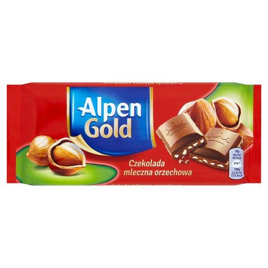 Alpen Gold Milk Chocolate with Hazelnuts 90 g