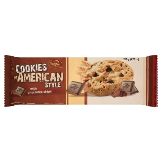 Bogutti Coookies in American Style Crunchy Biscuits with Chocolate Chips 135 g