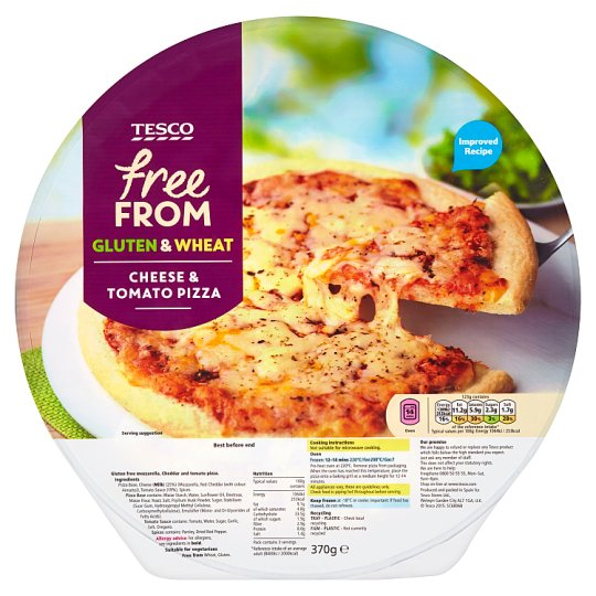 Tesco Free From Pizza with Mozzarella Cheese and Tomato Sauce 370 g