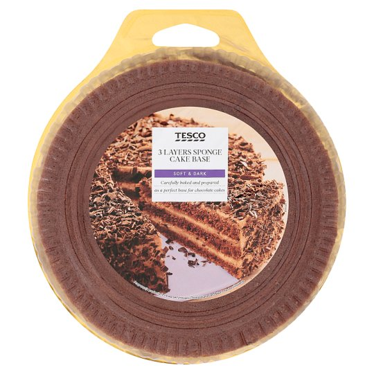 Tesco 3 Layers Sponge Cake Base with Cocoa 400 g