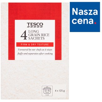 Tesco Long Grain Rice 500 g (4 Bags)