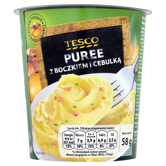 Tesco Puree z boczkiem i cebulką Danie instant 58 g