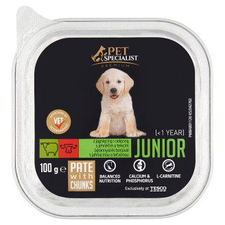 Tesco Pet Specialist Premium Pate with Lamb and Veal Food for Junior Dogs 100 g