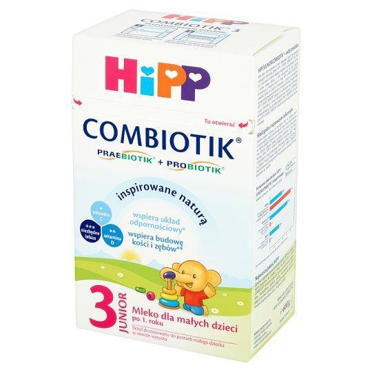 HiPP Junior Combiotik 3 Powdered Milk for Babies after 1 Year Onwards 600 g