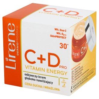 Lirene C+D pro Vitamin Energy 30+ Odżywczy krem głęboko nawilżający na dzień i na noc 50 ml