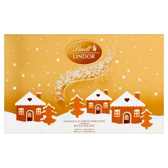 Lindt Lindor Milk Dark and White Chocolate with Smooth Filling 200 g