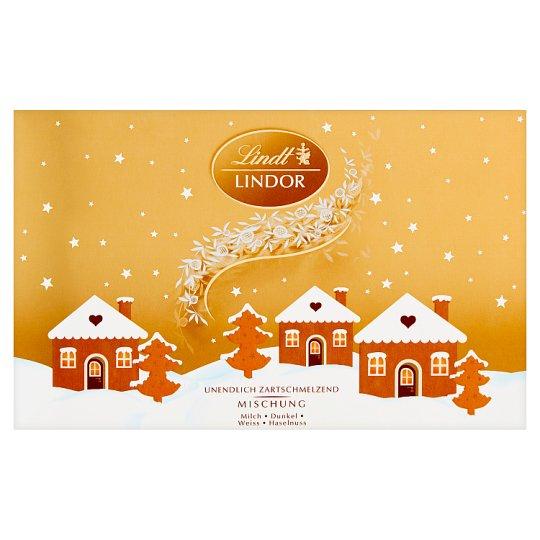 Lindt Lindor Pralinki z czekolady mlecznej deserowej i białej z nadzieniem 200 g