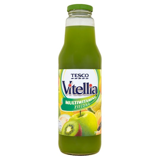 Tesco Vitellia Green Multivitamin Multifruit Drink 750 ml