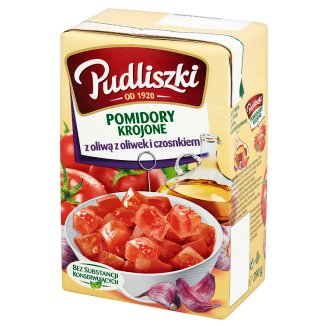 Pudliszki Sliced Tomatoes with Olive Oil and Garlic 390 g