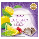 Tesco Earl Grey with Lemon Herbata czarna 36 g (20 torebek)