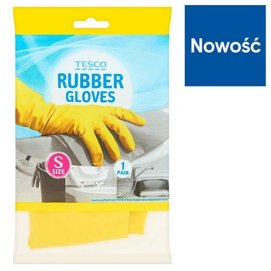 Tesco Rękawice gumowe rozmiar S 1 para