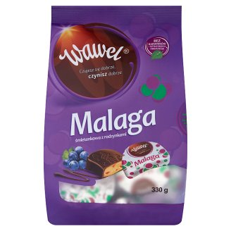 Wawel Malaga Cream Filled Chocolates with Raisins 330 g