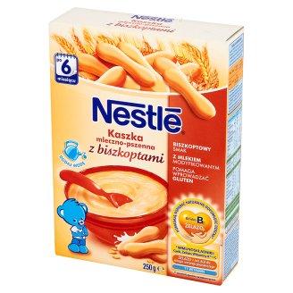 Nestlé Kaszka mleczno-pszenna z biszkoptami po 6 miesiącu 250 g