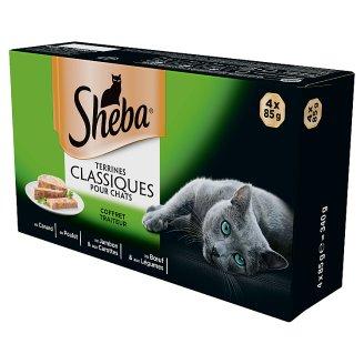 Sheba Terrines Classiques Karma pełnoporcjowa 340 g (4 x 85 g)