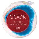 Tesco Cook Heart Silicone Cases 12 Pieces