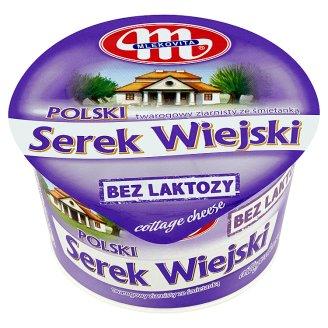 Mlekovita Wiejski Polish Lactose Free Granular Curd Cheese with Cream 180 g