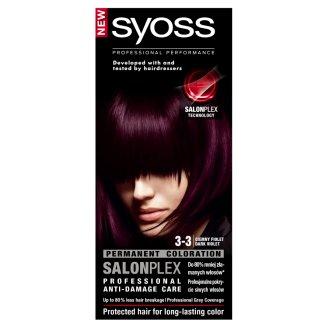 Syoss SalonPlex Farba do włosów Ciemny fiolet 3-3