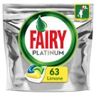 Fairy Platinum All In One Lemon Kapsułki do zmywarki 63 sztuki
