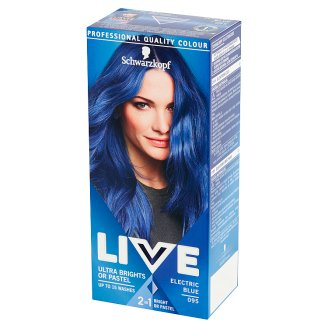 Schwarzkopf Live Ultra Brights or Pastel Hair Colorant Blue Electric 095