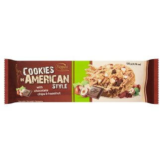 Bogutti Coookies in American Style Crunchy Biscuits with Chocolate Chips & Hazelnut 135 g