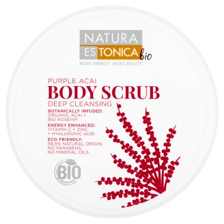 Natura Estonica Bio Deep Cleansing Body Scrub Purple Acai 300 ml