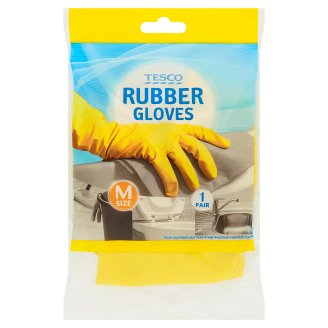 Tesco Size M Rubber Gloves 1 Pair