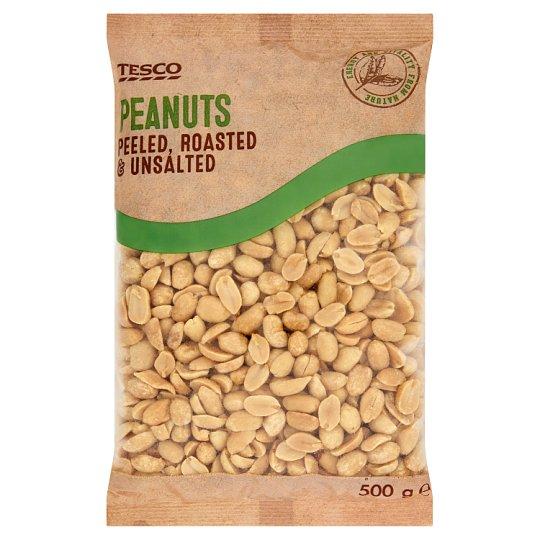 Tesco Orzeszki ziemne blanszowane smażone niesolone 500 g