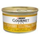 Gourmet Gold Pełnoporcjowa karma dla dorosłych kotów kawałki w sosie z kurczakiem i wątróbką 85 g
