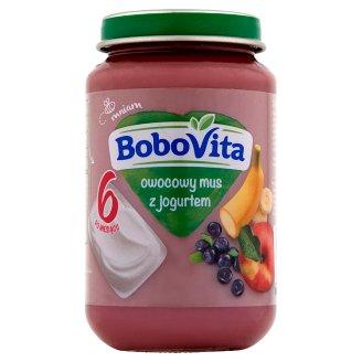 BoboVita Owocowy mus z jogurtem po 6 miesiącu 190 g