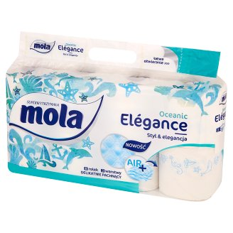 Mola Elégance Sea Breeze Toilet Paper 8 Rolls